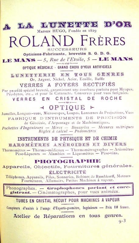 O 25 publicite 1898
