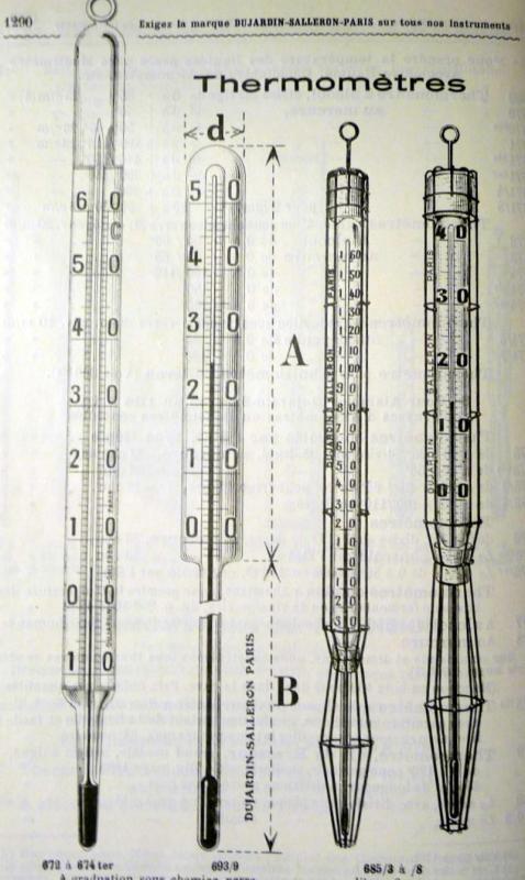 O 61 thermometres speciaux